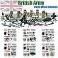 Мини Второй Мировой Войны ВЕЛИКОБРИТАНИЯ Британский 8-й Армии Северной Африки кампании рисунок Военная Строительные Блоки Игрушки Совместимость с Lego Кукла D163
