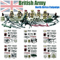 Mini World War II UK British 8th Army North African Campaign figure Military Building Blocks Toys Compatible with Lego Doll D163