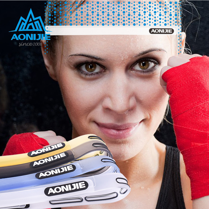 Outdoor Sports Silicone Sweat Guiding Belt,Running,Ridding GYM Sweat Conductivity Headbands,Yoga Hair Bands <font><b>Sweatband</b></font> Headwear