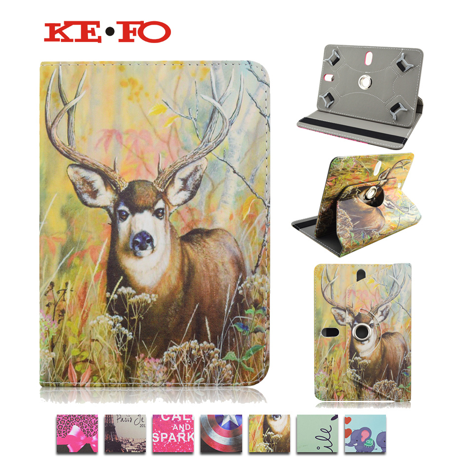 High quality 360 Rotate PU Leather Case Cover Stand for For Acer Iconia One 7 B1-730 Universal Android Tablet 7inch bags KF492