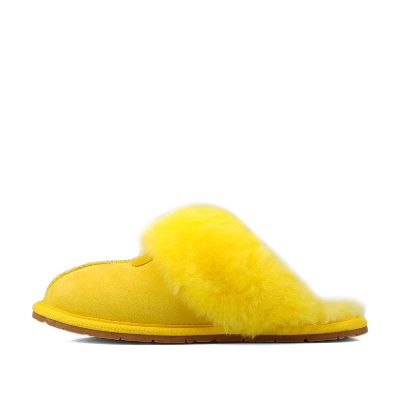 Lightweight warm wear resistant autumn winter classic home indoor women 39 s fur slippers Sheepskin with wool Baotou men 39 s slippers in Slippers from Shoes