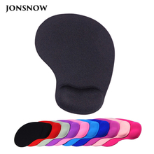 JONSNOW Wrister Mouse pad with Gel Wrist Rest Mousepad Gaming Office Black Silicone Mat for Desktop Laptop Non-slip Mise