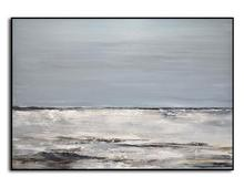 Original Landscape Seascape Painting Blue Abstract Art Oil Wall Home Decor Modern Large canvas