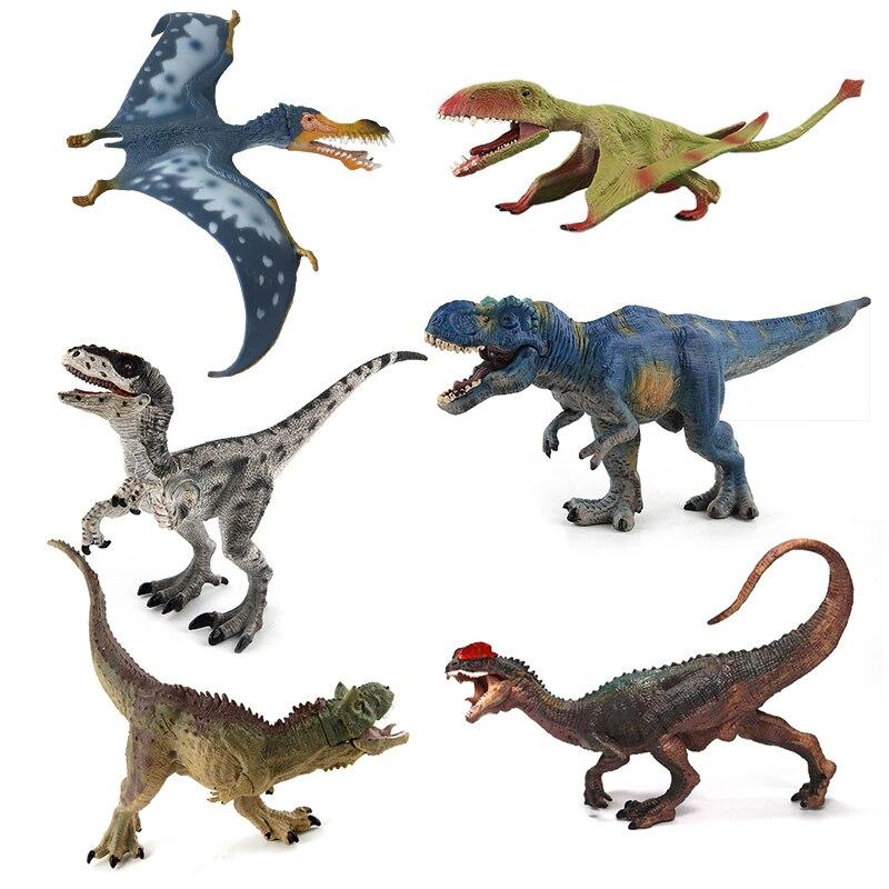 Jurássico mundo parque dinossauro brinquedos modelo carnotaurus dilophosaurus velociraptor pvc figura de ação mandíbula dinossauros móveis presente