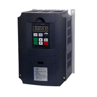 220V 4KW Frequency Inverter For Water Pump Frequency Converter With Dual Fan 1 Phase Input 3