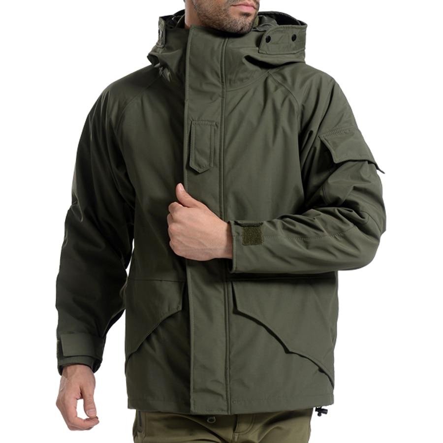 G8 Для мужчин зимняя камуфляжная теплая Толстая пальто + лайнер парка Военная Униформа Тактический с капюшоном 2in1 куртка Водонепроницаемый ...