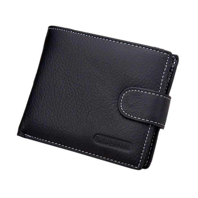 2017 New HOT genuine leather Men Wallets Brand High Quality Designer wallets with coin pocket purses gift for men card holder
