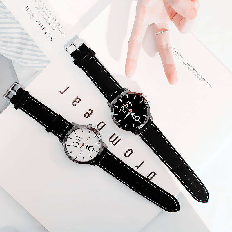 Chic Couple Watches Pair Clock Men's Watch Fashion Casual Women's Quartz Wristwatches Gifts for Boy Lover's Watch reloj mujer