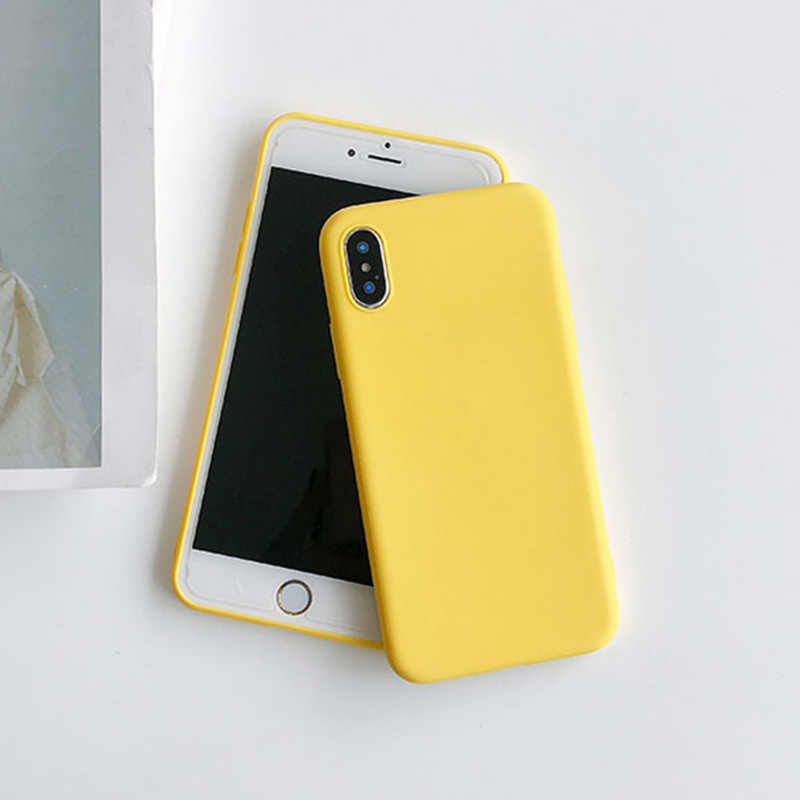 Yellow Candy Matte Clear TPU Case For Huawei Y3 II Y5 Lite 2017 Y5 2019 Y6 II Y6 Pro 2019 Y7 Prime Anti-knock Rubber Cover