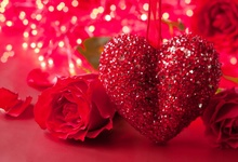 Laeacco Red Rose Love Heart Polka Dots Happy Valentines Day Party Photographic Backgrounds Photography Backdrops Photo Studio