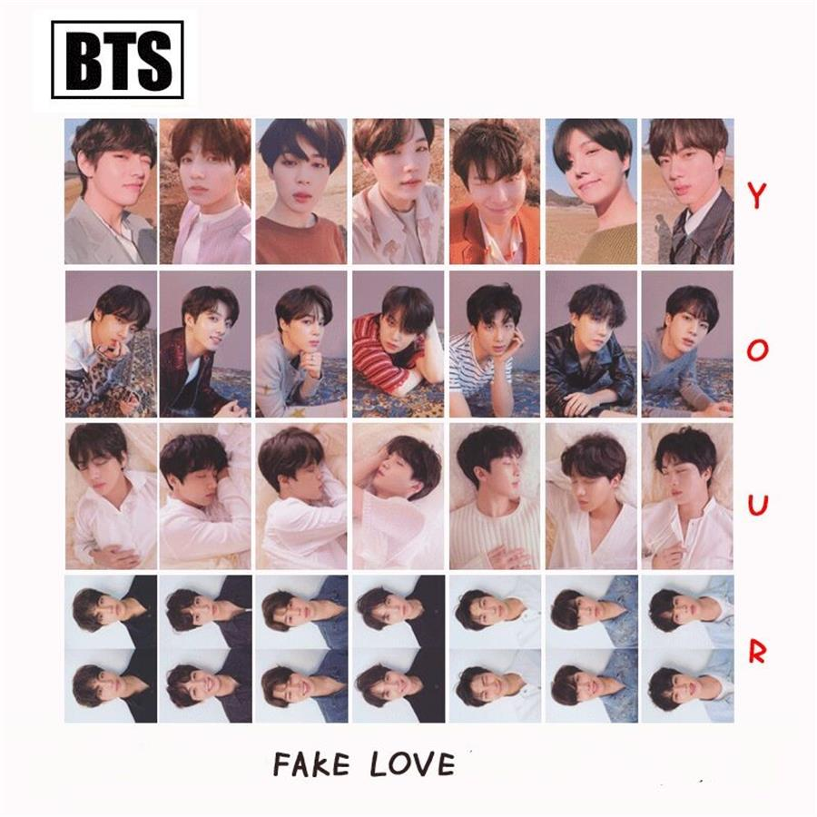 Kpop Bts Fake Love Yourself Answer Paper Photo Cards New