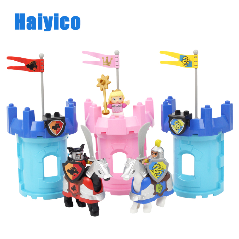 War Fort Arms Big Building Blocks Princess Castle Model Accessories Bricks Compatible with Duplo Set Figure Children Toys Gift big building blocks castle pirate arms armor war cannon model accessories bricks compatible with duplo set figure toy child gift
