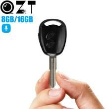 QZT – Mini enregistreur vocal numérique, Micro, clé de voiture, son, professionnel, longue Distance, lecteur MP3, Dictaphone, 8 go