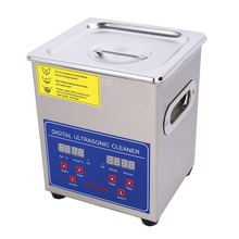 Stainless Steel Ultrasonic Cleaner Bath Digital Ultrasonic Cleaning Tank for Coins Nail Tool Part 13.L/ 2L/ 3L/ 6L/ 10L