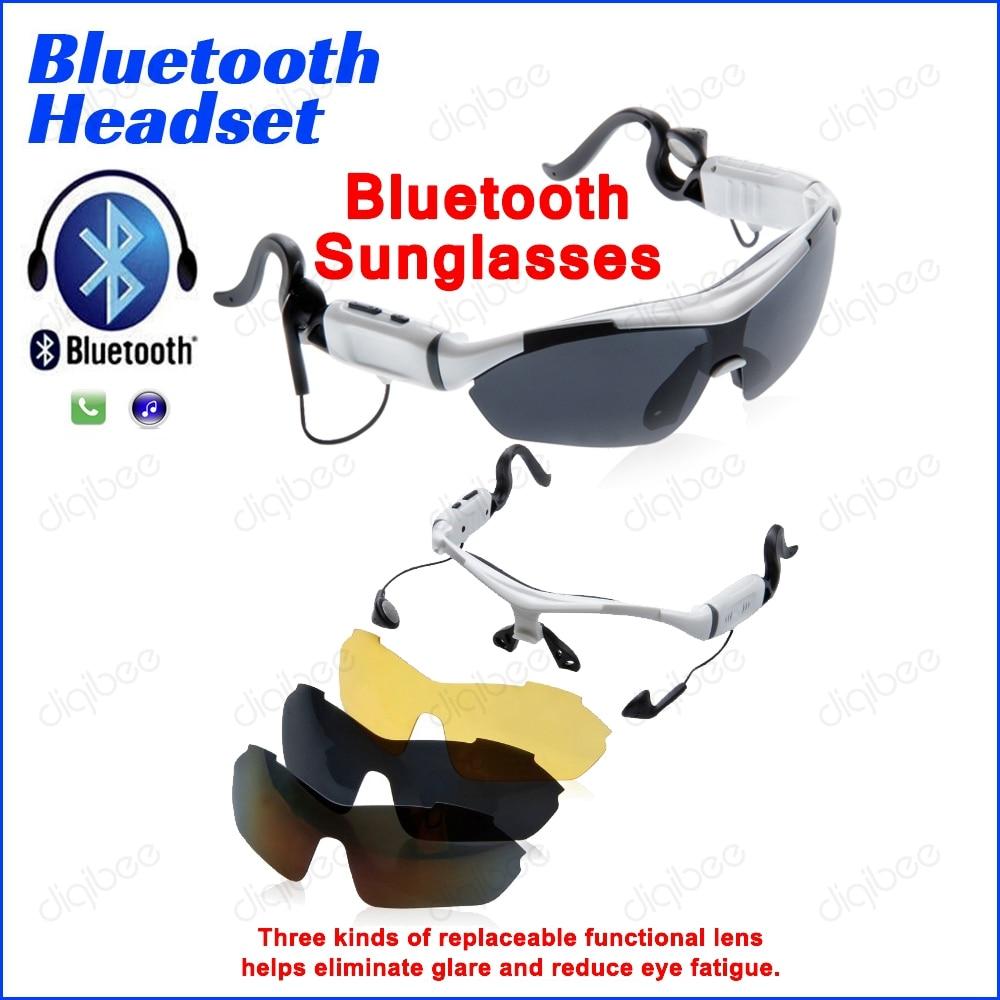 Matahari Kacamata olahraga Bersepeda Kacamata Menjalankan Musik dengan 3  Lensa Kacamata Bluetooth Headset Tombol Sentuh Untuk eb410a3552