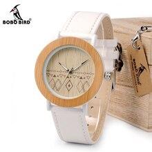 ボボ鳥 WE24 ユニセックストップブランドデザイナー腕時計女性のための自然竹 & 鋼腕時計ギフトボックスドロップシッピングの Oem