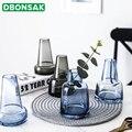 Ваза для замка в скандинавском стиле серая/синяя стеклянная ваза индивидуальный креативный Маяк цветочный горшок для дома  гостиной  рабоч...