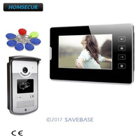 HOMSECUR 7 Wired Video Door Entry Call System with Touch Panel Monitor for Home Security