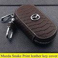 Mazda alta calidad tapa del teclado de cuero para Mazda 3 Axela 6 un Tezi SUV Mazda CX-9 MPV Mazda5 8 estampado de serpiente de estilo