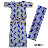 African Big Size Cloth for woman african Ankara print dresses 2 pieces set top+skirt 100%wax print cotton african clothes