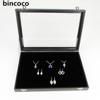 Hot Selling Black Box For Jewelry Receiving Earrings Box Black Leather Case Earrings Receive Case Can