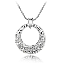 Elegant Fashion Crystal from Swarovski Pendant Necklace Made With SWA Elements Birthday Gift For Her Platinum Plated