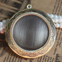 10pcs Wholesale ANTIQUE BRONZE 45mm  Round Photo Locket Frame Charm&Pendant Accessories for DIY Necklace Jewelry Making недорого