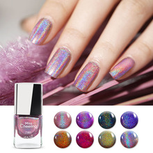 7ml  Holographic Nail Polish Laser Glitter Top-graded Lacquer Long Lasting Colorful Varnish Art