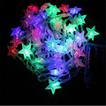 Christmas Decoration Light 8M 50LED String Light Waterproof DC 4.5V Star Shaped Led Strip Wedding Garland Outdoor LED Lamps