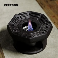 Creative Gossip Warmer Warm Tea Stove Ceramic Coarse Pottery Alcohol Lamp Candle Heating Sake Tea Coffee Heater Teapot Holder