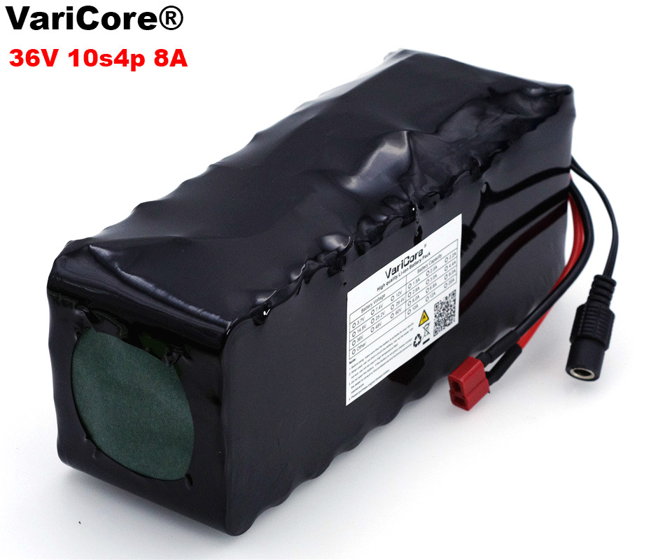 VariCore 36 V 8Ah 10S4P 18650 Rechargeable battery, changing bicycles, electric car 36 V protection BMS with PCB varicore 12 v 9 8ah 9800mah 18650 rechargeable battery 12v protection board cctv monitor battery
