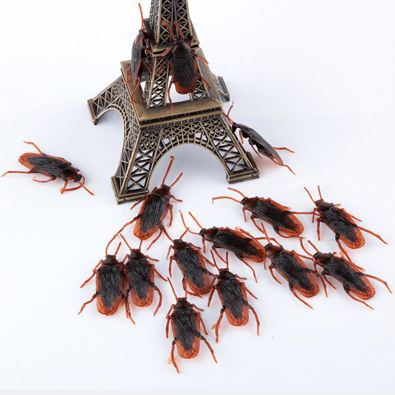 Simulation Cockroach Halloween Decoration Props Plastic Funny Tricky Gags Toys Ornaments Practical Jokes Gadget For Children