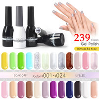 CANNI Gel Polish Factory Supply 239 Colors 15ml Nail Art Beauty 62507 Soak off UV LED Gel Paint Design Nails Gel Lacquer Varnish