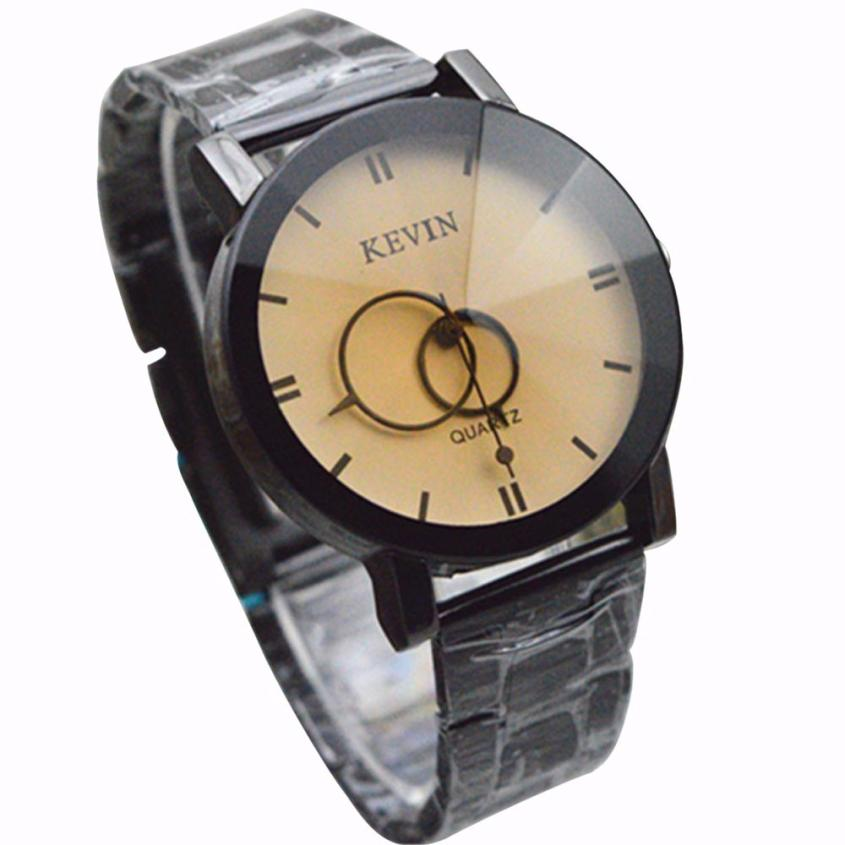 2017 Dignity Design Black Stainless Steel Band Round Dial Quartz Wrist Watch Men Gifts MA 31