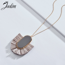 Joolim Jewelry Wholesale/ High End Gray Red Cream Black Raffia Tassel Pendant Necklace