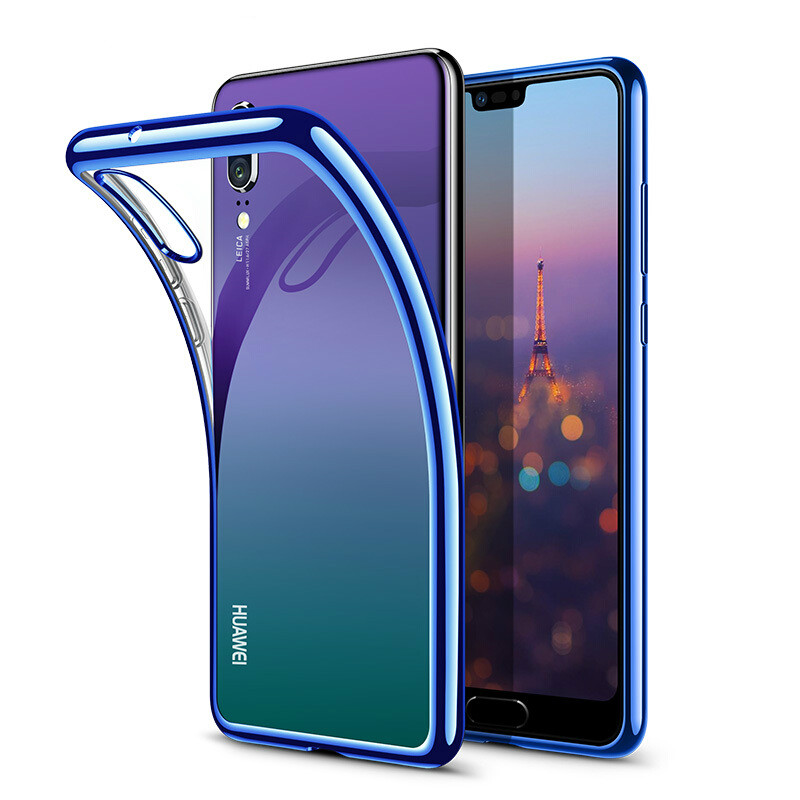 Electroplate TPU Soft Case For Huawei P20 Pro P10 P Smart Plus Nova 3 3i 3E Mate 10 9 Honor 10 9 7X 8X 8C V10 Anit-Skid Case