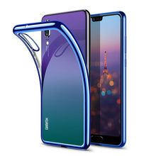 Electroplate TPU Soft Case For Huawei P20 Pro P10 P Smart Plus Nova 3 3i 3E Mate 10 9 Honor 10 9i 9 7X 8X V10 V9 Anit-Skid Case(China)