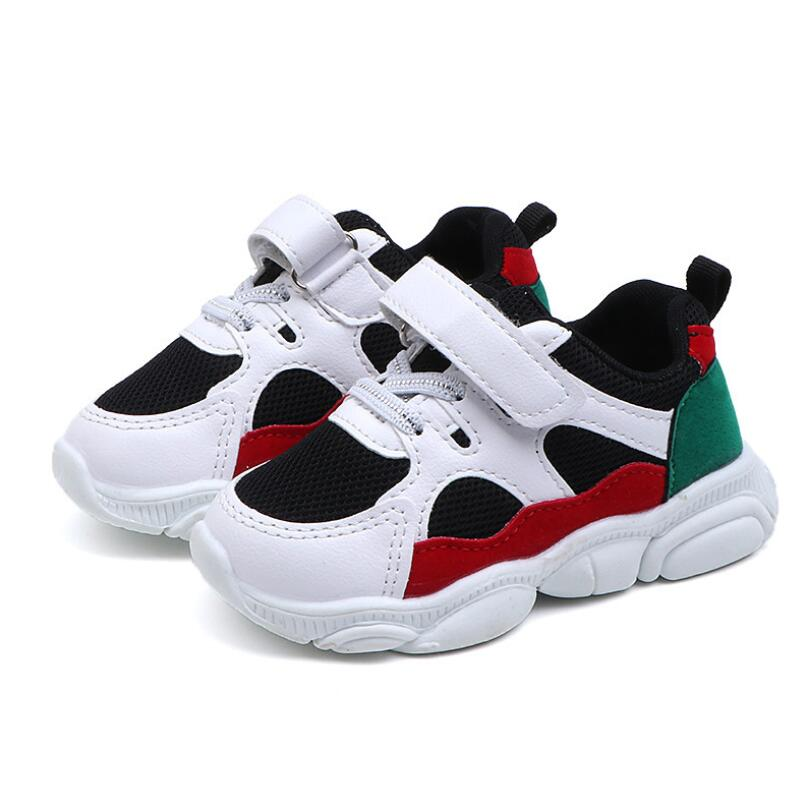 Kids Boys Shoes Girls Sneakers New Spring Autumn Net Breathable Sport Running Baby Boys Shoes Soft Outdoor Shoes EU 22-31