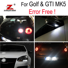 Белая лампа заднего хода+ под зеркалом+ номерной знак для VW GTI Rabbit Golf 5 MK5 MK V светодиодный внешний вид+ парковочный светильник(06-09