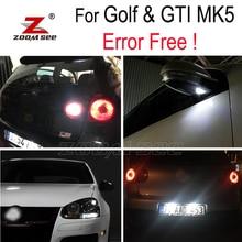 Bianco della lampadina Reverse + Sotto specchio + targa per VW GTI Coniglio Golf 5 MK5 MK V LED Esterno + luce di parcheggio kit (06-09)