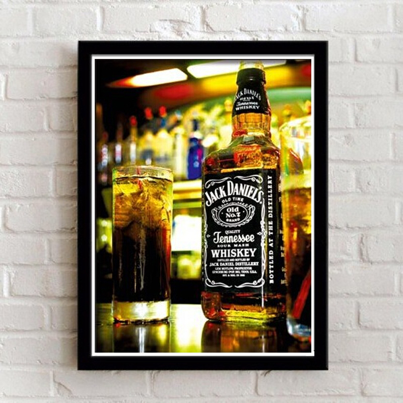 Painting With Framed Bar Hotel Modern Decoration Painting Beer Glasses Wall  Art Paintings Picture On Canvas Mural 28X23 CM