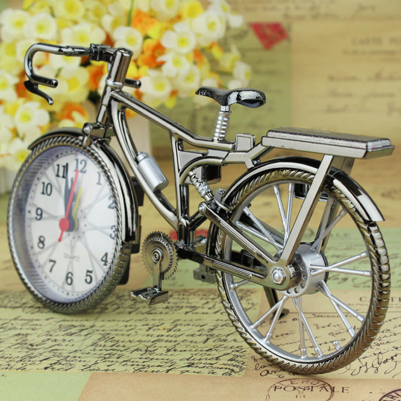 Vintage Bike Shape Alarm Clock Fun Bicycle Clock Ornaments for Home Decor Hot Sale in Alarm Clocks from Home Garden