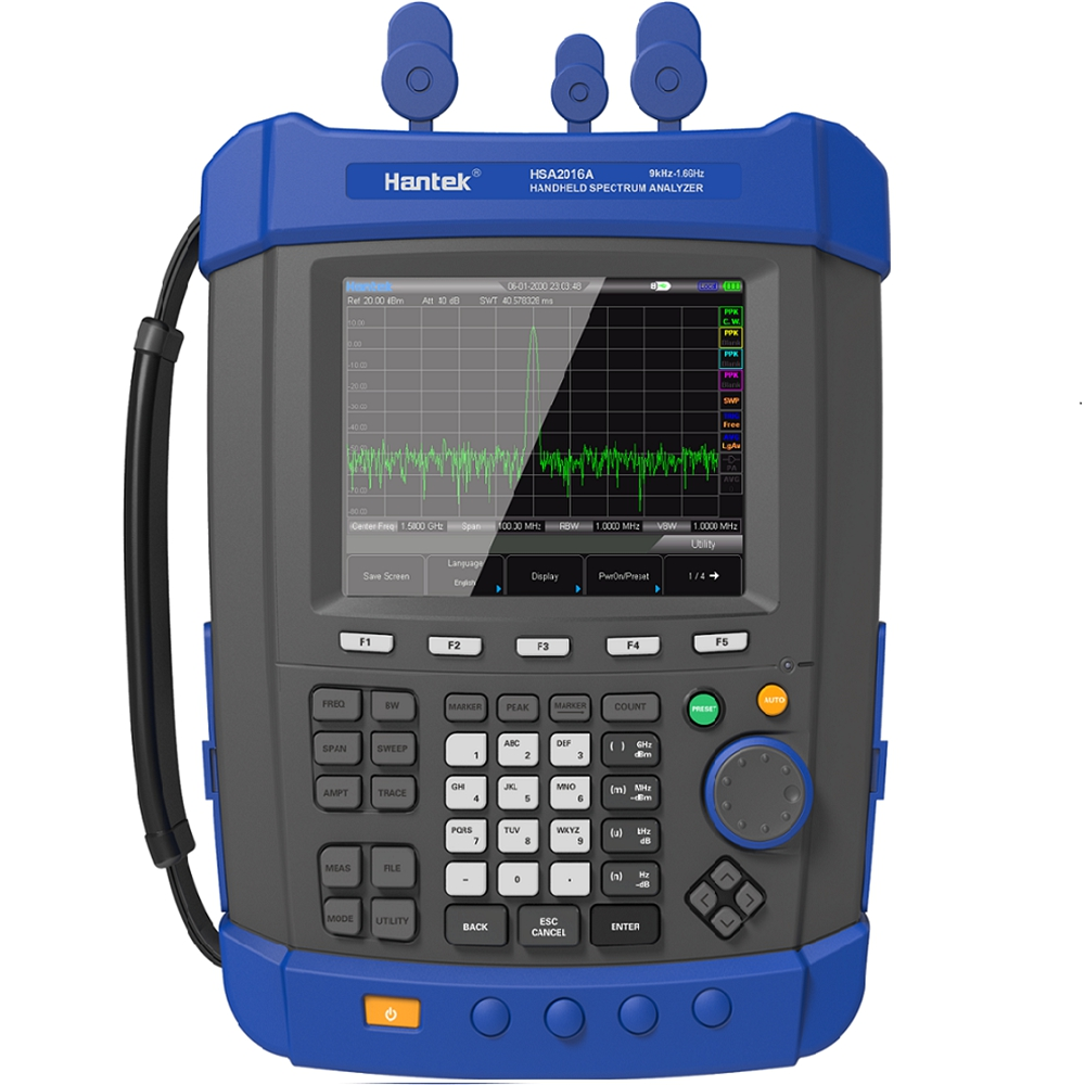 HSA2016A Handheld Digital spectrum analyzer Portable Field Strength Meter Spectrum monitor USB interface WIFI LAN Optional