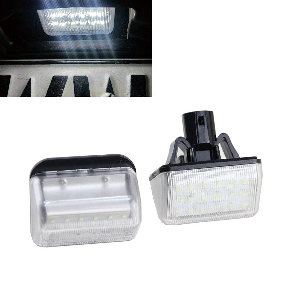 7000K Xenon White OEM Fit LED License Plate Lights bulbs For Mazda CX-5 CX-7 Mazda6 Mazdaspeed6 OEM Part#GJ6A-51-272B boaosi 2x h11 led canbus 5630 33 smd bulbs reflector mirror design for fog lights for mazda 3 5 6 cx 5 cx 7