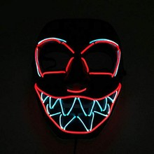 Halloween Glowing Mask LED Light Festival Scary Face Cosplay Costume