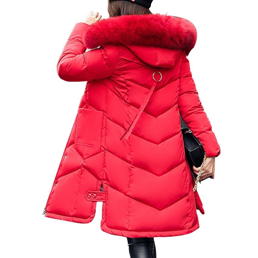Winter Jacket Women Long Style Cotton Parka Mujer 2017 Kurtka Zimowa Damska Fake Fur Hoody Zipper Jacket Manteau Femme Hiver Z25