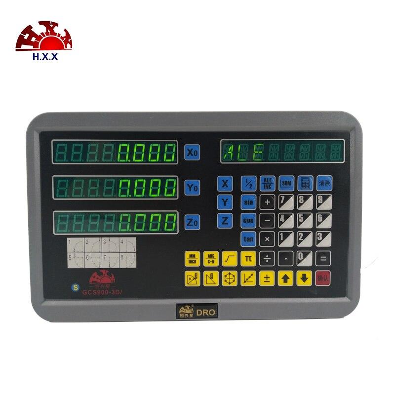 Hxx Complete Dro set kit GCS900 3D Digital Readout And 3 pcs 5u GCS898 50 1000mm