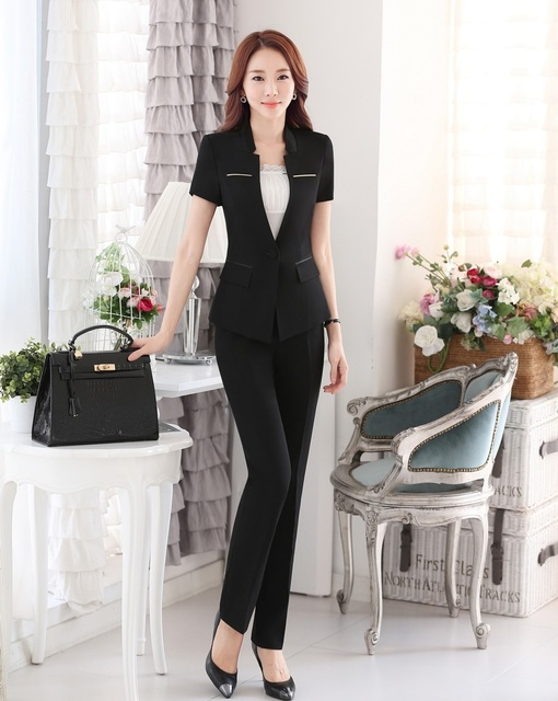Aliexpress.com : Buy Summer Ladies Pant Suits for Women Business ...