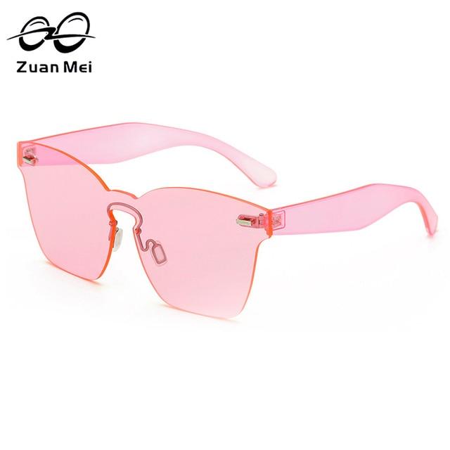Zuan Mei Lente Espelho Óculos De Sol para As Mulheres Quadrado Rosa Sombra  Óculos De Sol 107541784a