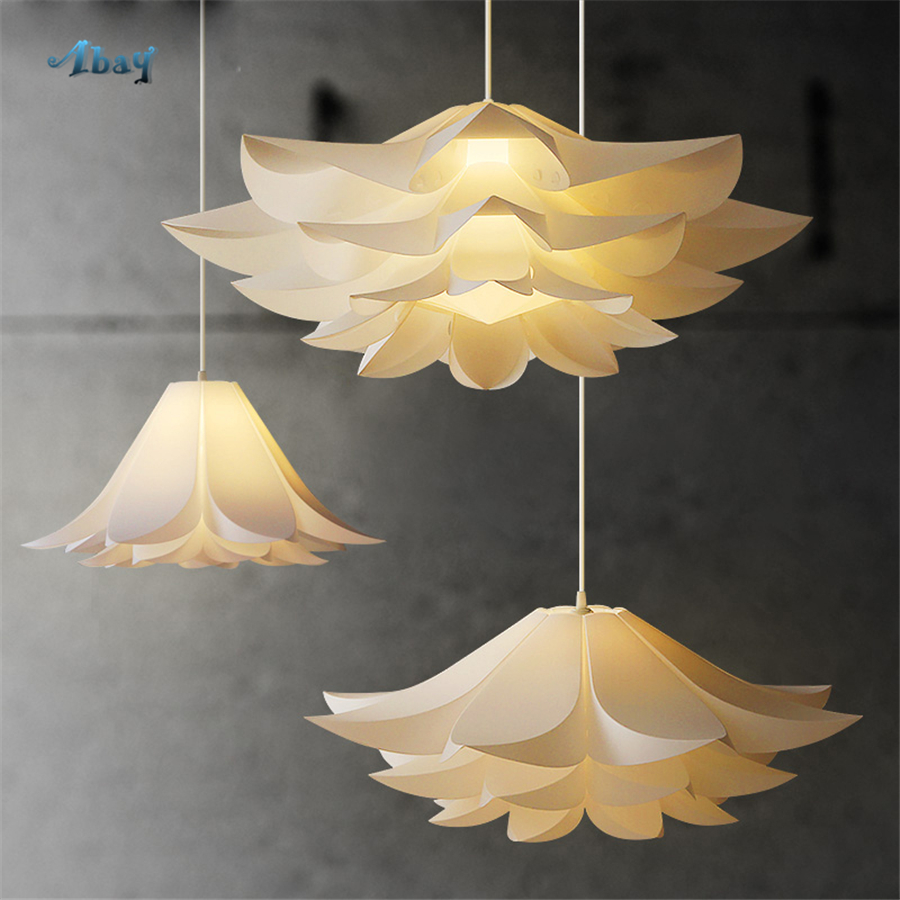 Art Deco White Lotus Pendant Lights Minimalism Kitchen Decoration Living Room Hang Lamp Flower Shape Dining Room Light FixturesArt Deco White Lotus Pendant Lights Minimalism Kitchen Decoration Living Room Hang Lamp Flower Shape Dining Room Light Fixtures